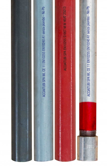 Welded gas and water tubes