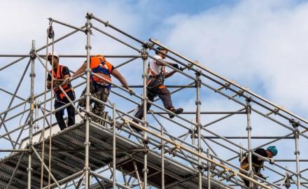 Steel scaffolding - industrial use